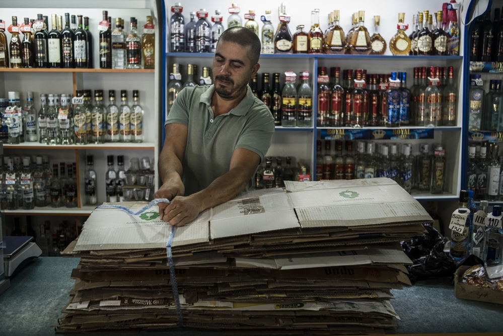 Shamil Iminov, a shopkeeper in Aravan, says the rise in religious piety has led to a sharp decline in the sale of alcohol.