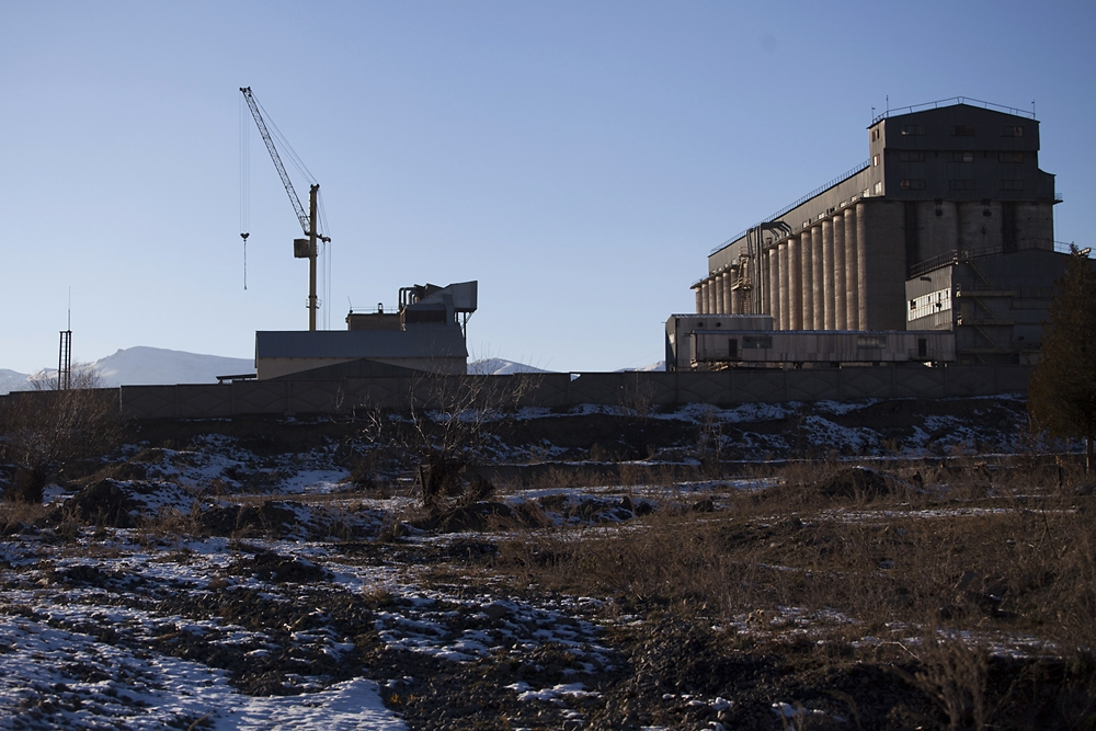 The flour mill complex near Spitak was rebuilt and returned to business.
