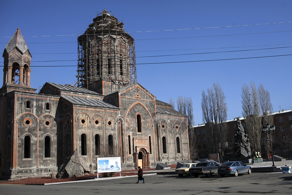 The Holy Savior Church in Gyumri (formerly Leninakan) was repaired after being almost completely destroyed.