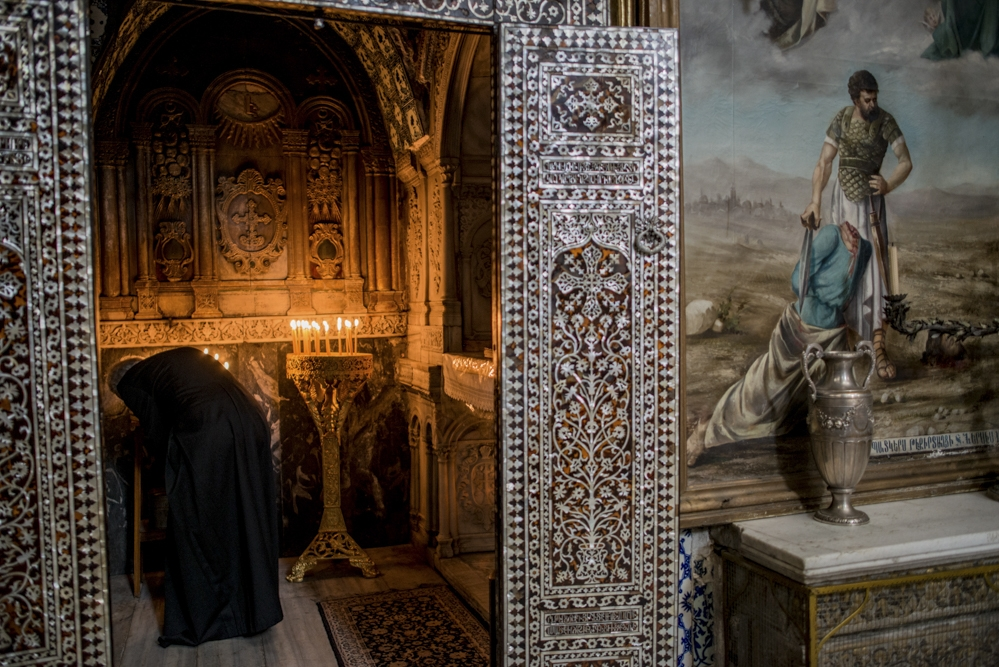 A priest maintains the chapel, inside which the head of one of Jesus Christ's apostles is believed to be buried