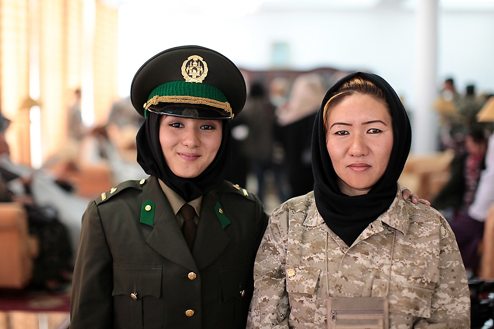 Golzadeh Hosseini and her daughter Masoumeh are the first family to have two generations of women serve in the Afghan military.