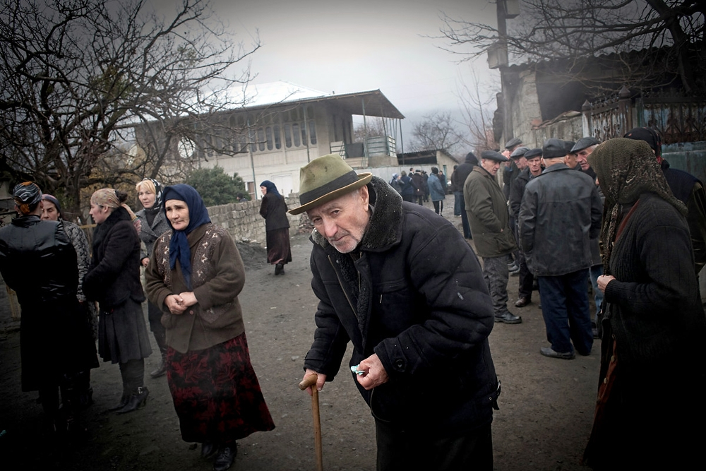 Almost all residents of Duisi attend the funeral of Khangushvili, who practiced the Muslim ritual of Zikr with local women.