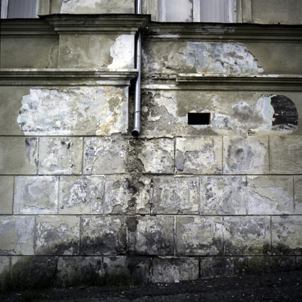 Most of the facades of the historical buildings in Sukhumi suffer from weather damage.