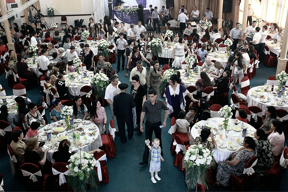 More than 200 guests attended the party, where traditional food of plov, kebabs and salads were served.